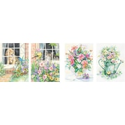 """Dimensions Pencil By Number Kit, 9"""" x 12"""", Set of 4: Cat, Dog, (2) Floral"""
