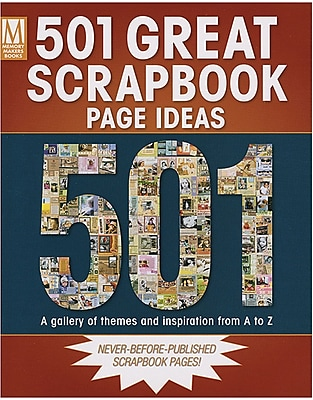 F&W Publications Memory Makers Books, 501 Great Scrapbook Page Ideas