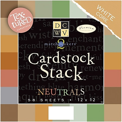 Diecuts With A View Textured Neutrals Cardstock Stack, 12