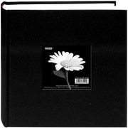 "Pioneer Cloth Photo Album With Frame, 9"" x 9"", Deep Black"