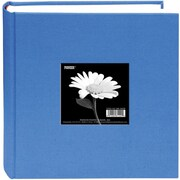 "Pioneer Cloth Photo Album With Frame, 9"" x 9"", Sky Blue"