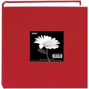 "Pioneer Cloth Photo Album With Frame, 9"" x 9"", Apple Red"