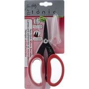 "Tonic Studios T817 Sharp Tip 7"" Non-Stick Micro Serrated Scissors, Red"