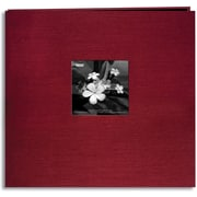 "Pioneer Silk Postbound Album With Photo Window, 12"" x 12"", Cranberry"