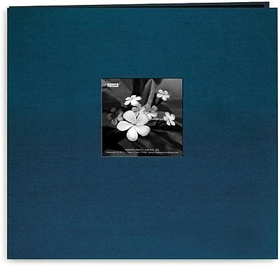 Pioneer Silk Postbound Album With Photo Window, 12