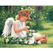 """Dimensions Paint By Number Craft Kit Painting, 20"""" x 16"""", Darling Angel (91312)"""