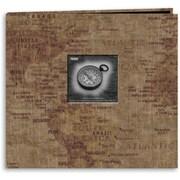 "Pioneer Travel Postbound Album With Photo Window, 12"" x 12"", World Map"
