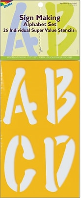 Plaid:Delta Stencil Mania Stencils, Sign Making Alphabet