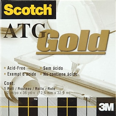 3M Scotch ATG Gold Transfer Tape, 1/Pkg, .5