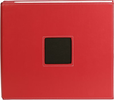 """""American Crafts Leather Postbound Album, 12"""""""" x 12"""""""", Red"""""" 943061"