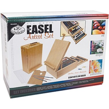 Royal Brush Easel Artist Set-All Media, 104 Pieces (REA6000)