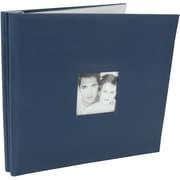 "MBI Fashion Fabric Postbound Album, 12"" x 12"", Blue"