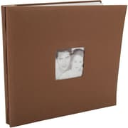 "MBI Fashion Fabric Postbound Album, 12"" x 12"", Brown"