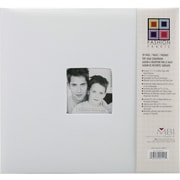 "MBI Fashion Fabric Postbound Album, 12"" x 12"", White"