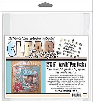 Clear Scraps Acrylic Page Frame, 12