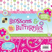 "Diecuts With A View Blossoms & Butterflies Paper Stack 12"" x 12""-48 Sheets"