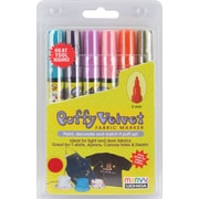 Uchida Puffy Velvet Fine Point Bright Fabric Marker, Assorted, 6/Pack