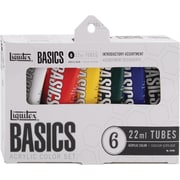 Reeves Liquitex Basics Non-toxic 0.73 oz. Acrylic Paint, 6/Set (101501)