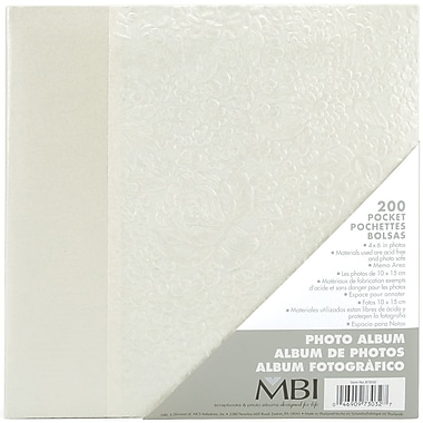 MBI Embossed Gardenia Pearl Photo Album-Holds 2-Up 4
