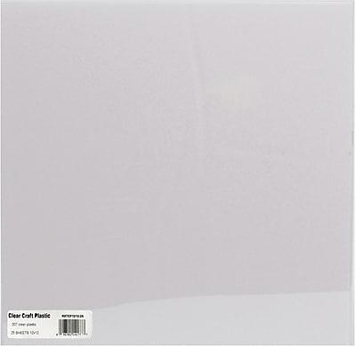 Grafix Craft Plastic Sheets, Clear .007, 12
