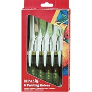 Reeves Metal Painting Knives 6/Pkg-Metal