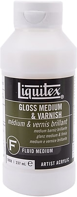 Reeves Liquitex 8 oz. Gloss Fluid Acrylic Medium & Varnish (5008)