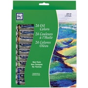 Loew-Cornell Oil Paint, 12ml, 24/Pkg, Assorted Colors