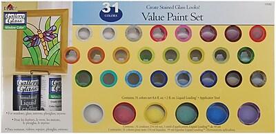 Plaid:Craft Non-toxic Window Color Value Paint Set, 2/Pack (17030)