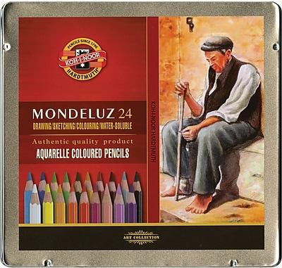 Koh-I-Noor Mondeluz Aquarell Watercolor Pencils, 24/Pkg