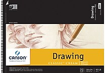 Canson Classic Cream Drawing Paper Pad, 18' x 24'