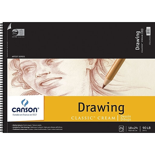 """Canson Classic Cream Drawing Paper Pad, 18"""" x 24"""""""