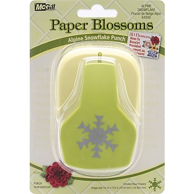 Mc Gill Paper Blossoms Lever Punch, Alpine Snowflake/For Rose