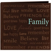 "Pioneer Text Faux Suede Scrapbook, 12"" x 12"", Family"