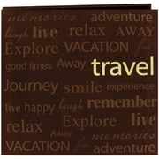 "Pioneer Text Faux Suede Scrapbook, 12"" x 12"", Travel"