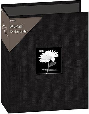 Pioneer Fabric 3, Ring Binder Album With Window, 8.5