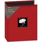 "Pioneer Fabric 3, Ring Binder Album With Window, 8.5"" x 11"", Red"
