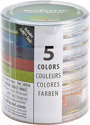 Armadillo Art & Craft PanPastel Ultra Soft Artist Pastel Set 9ml, 5/Pkg, Extra Dark Shades