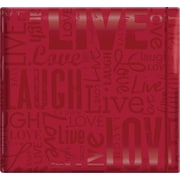 "MBI Gloss Scrapbook, 12"" x 12"", Live Love Laugh-Red"