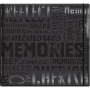 "MBI Gloss Scrapbook, 12"" x 12"", Memories-Black"
