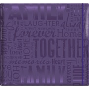 "MBI Gloss Scrapbook, 12"" x 12"", Family-Purple"