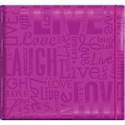 "MBI Gloss Scrapbook, 12"" x 12"", Live Love Laugh-Bright Purple"