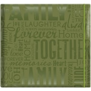 "MBI Gloss Scrapbook, 12"" x 12"", Family-Green"