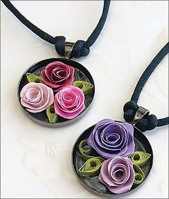 Quilled Creations Quilling Kit, Romantic Roses Necklace