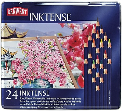Derwent Inktense Pencil Set, 24/Tin (700929)