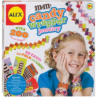 Alex Toys M&M's Candy Wrapper Jewelry Kit