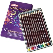 Reeves Derwent Coloursoft Pencil Tin, 12/Pkg