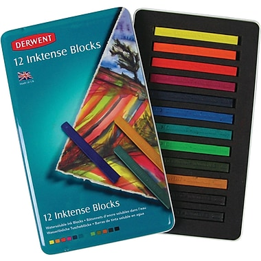 Reeves Derwent Inktense Block Tin, 12/Pkg
