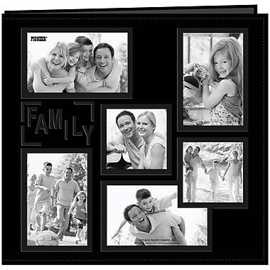 Pioneer Collage Frame Sewn Embossed Cover Postbound Album, 12