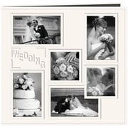 "Pioneer Collage Frame Sewn Embossed Cover Postbound Album, 12"" x 12"", White/Wedding"