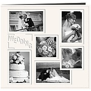"""Pioneer Collage Frame Sewn Embossed Cover Postbound Album, 12"""" x 12"""", White/Wedding"""